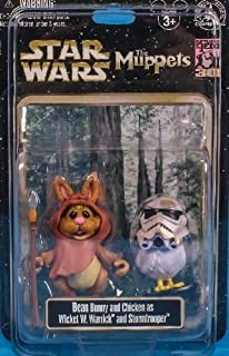 Disney Star Wars Weekends 2013 Muppets Bunny Bean and Camille as Wicket the Ewok and Stormtrooper Action Figure 2-Pack - Exclusive Limited Edition