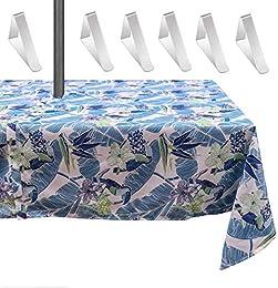 MKISHINE Nappe de Table étanche pour Parasol+6 Pin
