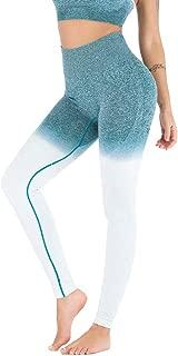 Women Sweat Squat Proof Seamless Stretch Yoga Pants Nylon Ombre Workout Leggings Butt Lift Gym Fitness Sport Capri