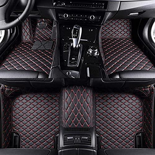 YANXS Alfombrilla De Cuero para Coche para Mercedes Benz C-Class Sedan 4door 2014-2015, Antes Y DespuéS De Cobertura Completa Esteras Moqueta Antideslizantes Coche Interior Proteger Accesorios