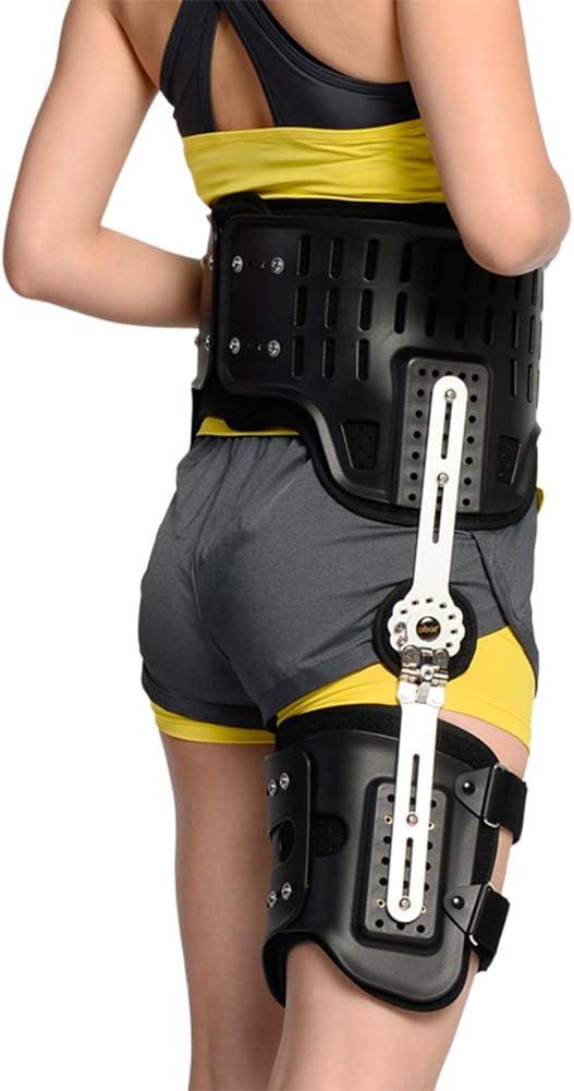 XJZHAN Órtesis De Cadera Soporte con Bisagras Fijación del Aparato Ortopédico Extensión De La Prótesis Stent Fracturas De Muslo Soporte