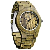 WOGREZ Wooden Watch Natural Handmade Wood Watches for Men Stylish Casual Quartz Wristwatch Birthday Anniversary Watch