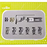 YICBOR 11pcs Snap On prensatelas Set para Pfaff Creative Quilt Expression Tiptronic Select máquina de coser