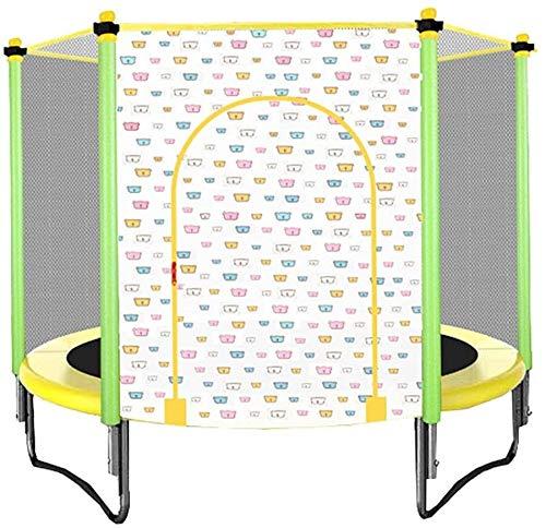 YAOJIA Indoor trampoline Foldable Kid Trampoline | Indoor Trampoline With Guard Net Outdoor Fitness,5ft