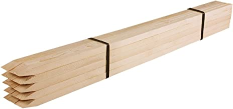Greenes Fence RC85N-25C Wooden Garden Stakes (25 Pack), 5' x 3/4