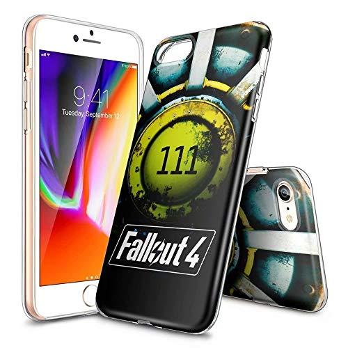 Custodia per iPhone X/XS, ultra sottile, trasparente, in TPU, antiurto, antigraffio, modelli personalizzabili [LZX20190466] iPhone 6 / 6s Plus FALLØUT 4-111 SHELTER