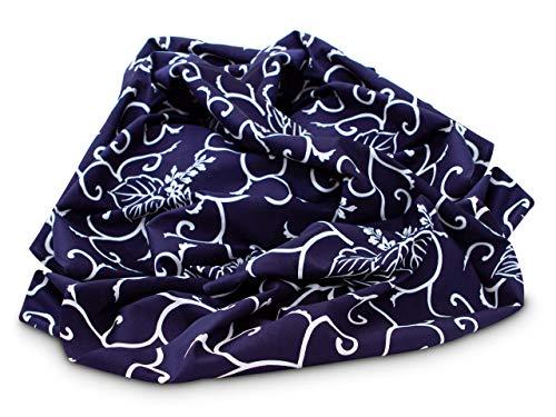 Schöner Schal und originelle Tasche. Kreative Geschenk-Verpackung. Furoshiki Kiri Karakusa L, original japanisches Tuch