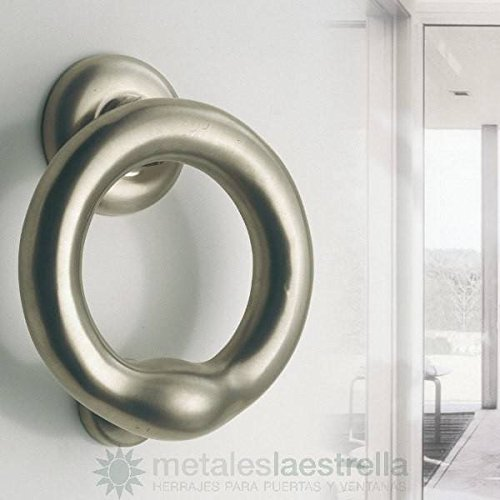 Metalle der Stern Türklopfer Ring Messing Nickel matt. 135–mle030