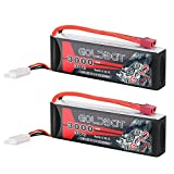 8 cells motor for rc car - GOLDBAT 3S 11.1V 3000mAh 30C Lipo Battery with Dean-Style T and XT60 Connector for RC Car Airplane Helicopter Boat Drone FPV and Quadcopter Radio Control Toy (2 Packs)