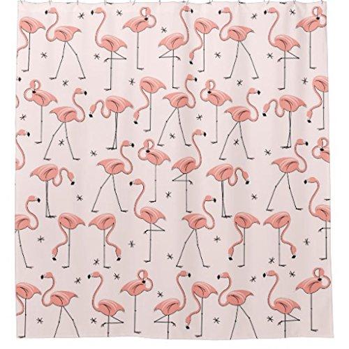zichuangd Flamingos Pink Vorhang für die Dusche