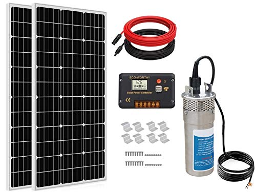 ECO-WORTHY Solar Well Pump Kit for Watering 24 Volt - 1pc Submersible...