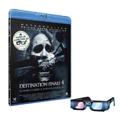 Destination finale 4 + 4 paires de lunettes 3D [Blu-ray] [Edizione: Francia];Metropolitan Edition Haute Définition;The Final Destination