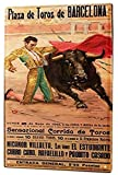 mengliangpu8190 Sign World Tour Barcelona Bullfighting Poster Torero Funny Warning Signs Metal Home Decor Private Property Caution Notice Sign 7' x 10' Aluminum Sign, Tin Sign