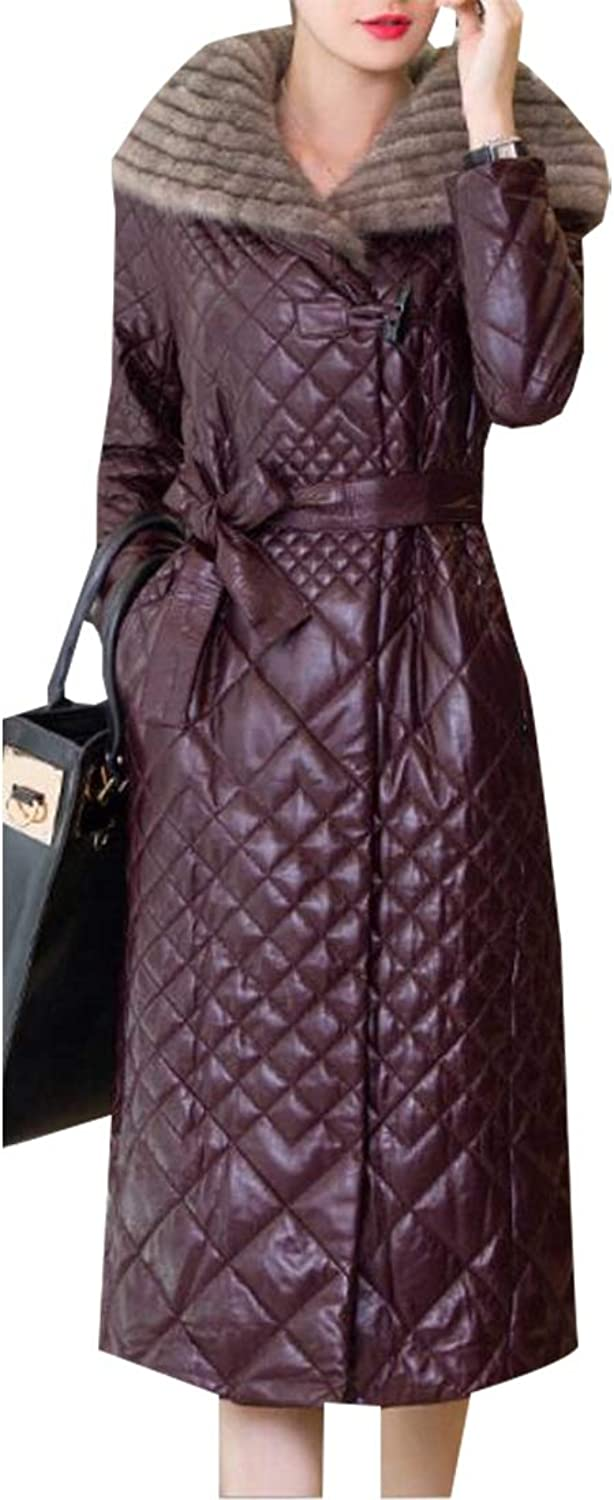 GenericWomen Hooded Thickened Maxi Down Parka Puffer Coat Long Down Jacket
