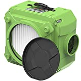 ALORAIR CleanShield HEPA 550 Industrial Commercial Air Scrubber, Heavy Duty Air Cleaner, Air Machine for Water Damage Restoration Interior Decoration, Air Filtration System Air Purifier, Green