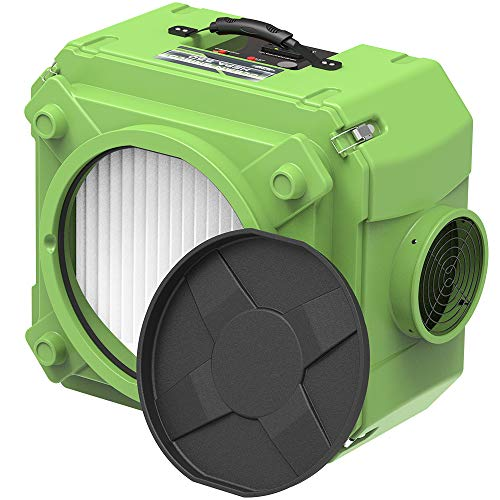 ALORAIR CleanShield HEPA 550 Industrial Commercial HEPA Air Scrubber for Damage Restoration, cETL Listed, GFCI Outlet, 10 Years Warranty, Green