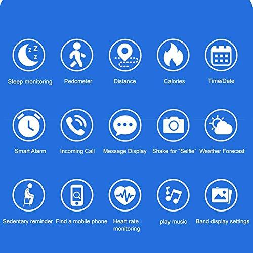 hwbq Monitor de actividad física en tiempo real, monitor de sueño, monitor de actividad, reloj inteligente, pulsera inteligente IP67