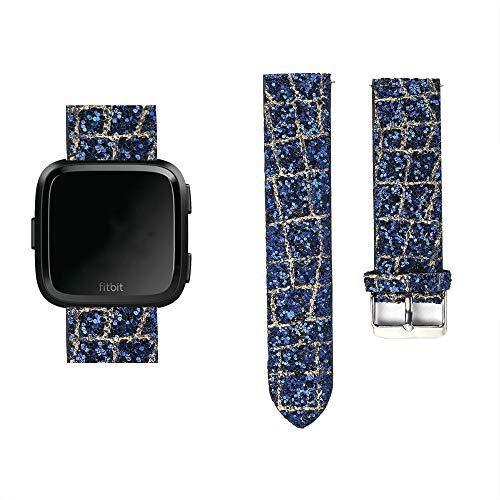 SUNEVEN Bracelet de Rechange en Cuir pour Montre connectée Fitbit VersaVersa 2/Versa Lite, b