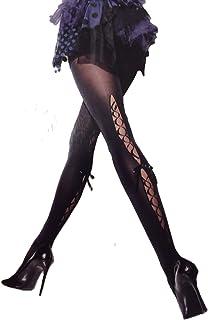 Girardi collant Istanti nero microfibra 50 den pizzo sul dietro con fiocco in raso