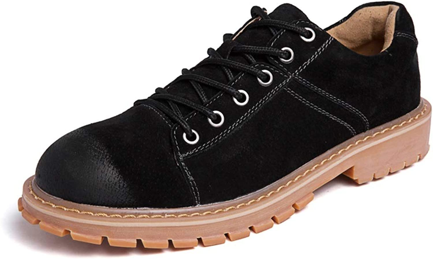 XIANGBAO-Personality Men's Fashion Oxfords Perfunctory Rung Toe Wear-Resistant Lacing Up Work shoes