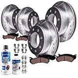 Detroit Axle - 4WD Brakes Kit Replacement for Ford Excursion F-250 F-350 Super Duty - 331mm Front Rear Disc Rotors, Ceramic Brake Pads (Drilled and Slotted Performance)