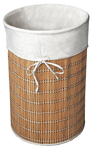 Alphaitalia Rotonda in bambù e Cotone per bucato, 40x 61cm, Beige, Taglia Unica