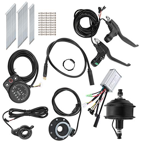 Keenso Kit de conversión de Bicicleta eléctrica, 48 V 250 W Kit de Motor de buje sin escobillas Kit de conversión de Bicicleta eléctrica Ruedas Delanteras/traseras (Motor de Casete Trasero)