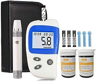 Breathalyzer Kit de medidor de azúcar en Sangre Kit de Monitor de medidor de glucosa en Sangre para Diabetes con 50 Tiras reactivas y 50 lancetas Máquina de azúcar