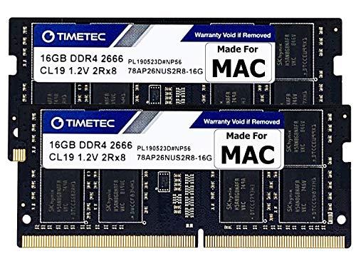 Timetec 32GB KIT(2x16GB) Compatible for Apple DDR4 2666MHz / 2667MHz for Mid 2020 iMac (20,1/20,2) / Mid 2019 iMac (19,1) 27-inch w/Retina 5K, Late 2018 Mac Mini (8,1) PC4-21333 /PC4-21300 MAC RAM