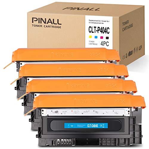 PINALL 4 Toner kompatibel mit Samsung CLT-P404C für Samsung C480W Xpress C480FW C480 C480FN C430 C430W Drucker (Schwarz/Cyan/Magenta/Gelb)