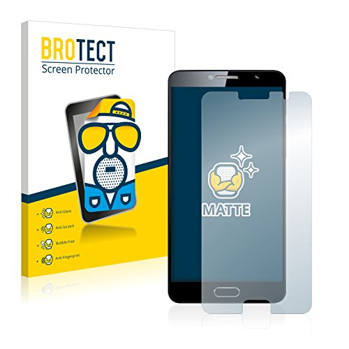 BROTECT 2X Entspiegelungs-Schutzfolie kompatibel mit Alcatel Flash Plus 2 Bildschirmschutz-Folie Matt, Anti-Reflex, Anti-Fingerprint