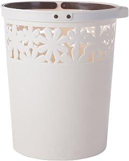 Poubelle à la maison Boîtes à ordures à fleurs creuses en plastique moderne avec bac à ordures portables Boîte de rangemen...