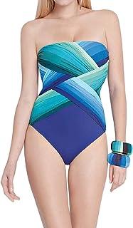 1d3c7436d83 Gottex Women Chrystalis Bandeau Twist Front One Piece Swimsuit