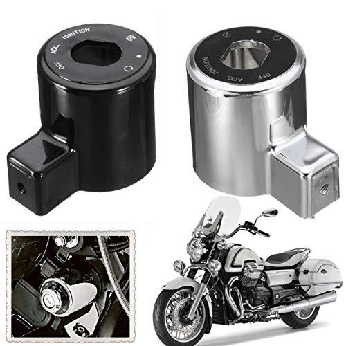 WZhen Tapa De La Cubierta Del Interruptor De Control De Encendido Para Harley Sportster Iron Xl 883 Xl883N 1200 - Plata