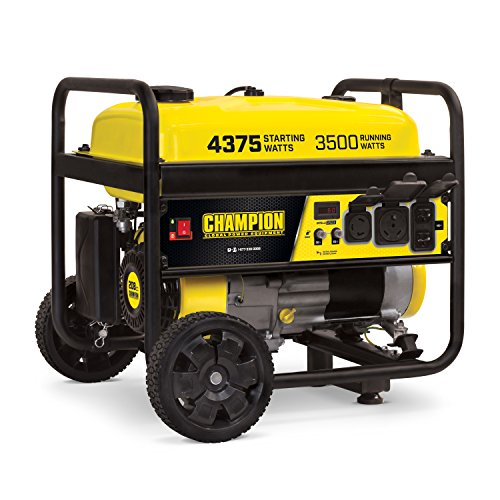 Champion Power Equipment 100522 4375/3500-Watt RV Ready Portable Generator with Wheel Kit, CARB