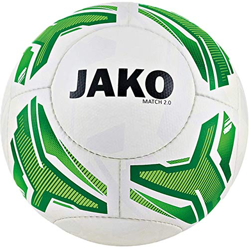 JAKO Jugendball Match 2.0, Größe:4, Farbe:weiß/neongrün/grün-290g
