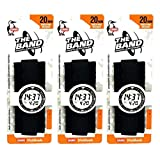 Chums The Band 20mm Standard Watchband (1 inch), Black (3 Pack)