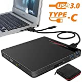 External DVD Drive 5 in 1 Portable USB 3.0/Type-C CD DVD+/-RW Burner Player Slim CD ROM for Laptop MacBook Air...