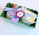 Regalo molto originale per neonati: body e cappello di marca con pannolino DODOT a forma di Cupcakes | Taglia 1-6 mesi | 100% cotone | tutto è di marca | Unisex.