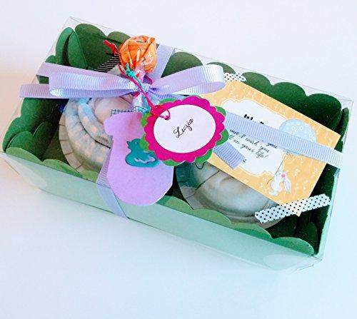 Regalo molto originale per neonati, body e berretto di marchio con pannolino Dodot a forma di Cupcake | taglia 1–6mesi | 100% cotone | Todo es di marca | Unisex, per bambini o per bambina)