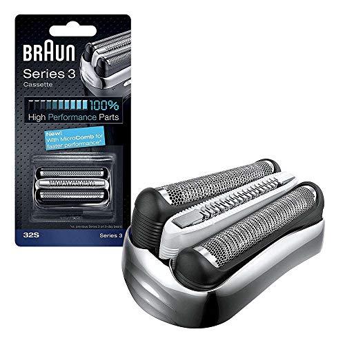 Braun 32S Series 3 Men's Shaver Foil Cutter Cassette by Braun (English Manual)
