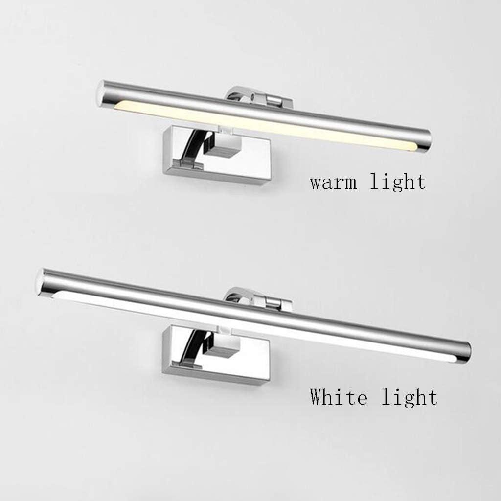,Spiegelleuchte Spiegel Frontleuchte LED Bad feuchtigkeitsbeständig Spiegel Schrank Lampe Wandleuchte Kosmetikspiegel Lampe Edelstahl Silber Stil .Spiegellicht (Color : White light-72cm) Warm Light-72cm