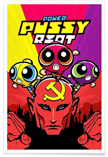Juniqe® Affiche 60x90cm Pop Art - Design Power Puff Riot Girls (Format : Portrait) - Poster, Tirages d'art & Tableaux par des Artistes indépendants créé par Butcher Billy