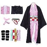 SHUKOES Disfraz de Cosplay de Anime japonés, Traje De Kimono De Anime Kimetsu No Yaiba para Hombres Y Mujeres Amantes del Anime,Japón Anime Vestido de Halloween,XXXL