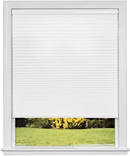 Artisan Select No Tools Custom Cordless Cellular Blackout Shades, Cloud White, 45 3/4 in x 72 in