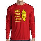 lepni.me T-Shirt Manica Lunga da Uomo Abbigliamento Moto (X-Large Rosso Multicolore)