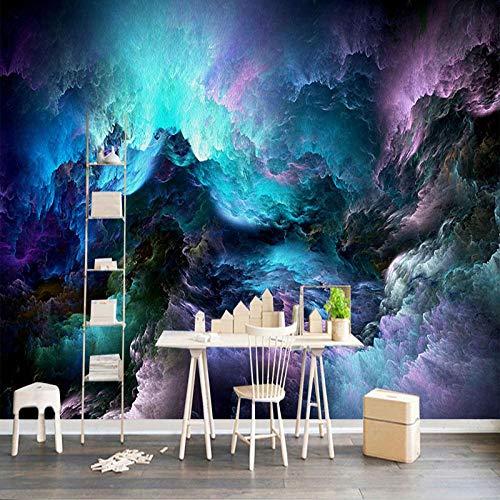 Papel pintado fotográfico personalizado 3D moderno abstracto hermoso cielo nubes foto murales sala TV sofá dormitorio decoración del hogar papel de pared 3D-250175cm