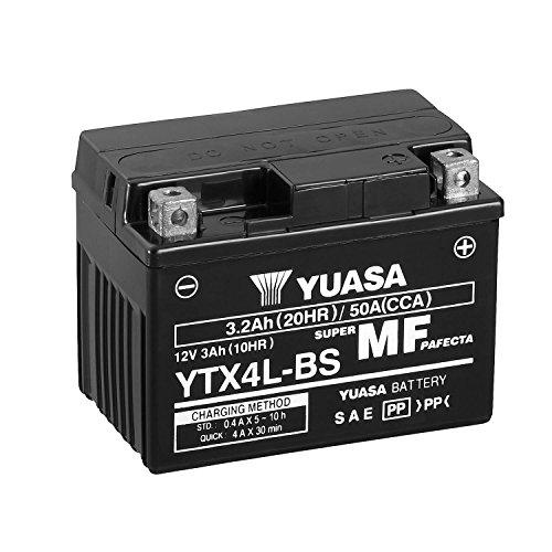 YUASA - Batería YTX4L-BS Combipack (con electrolito)