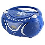 Metronic 477132 Radio / Lecteur CD / MP3 Portable Square avec Port USB - Bleu Foncé