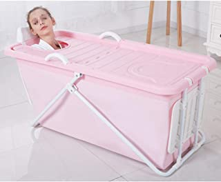 LHHL Adult Bathtub Portable Collapsible Baby Child Bathtub Comfortable Household Large Freestanding Tub Shower Tray Long I...